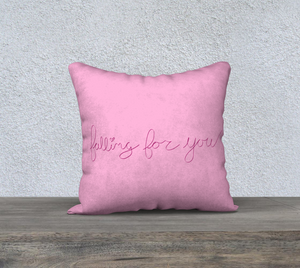"Falling For You Pillow Case - 18""x18"""