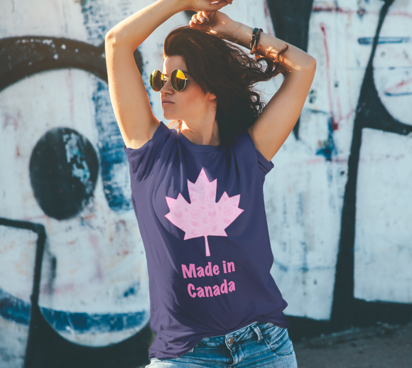 Made in Canada Unisex Tee - Cartoon Rose