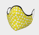 All About the Dots Face Covering - Yellow