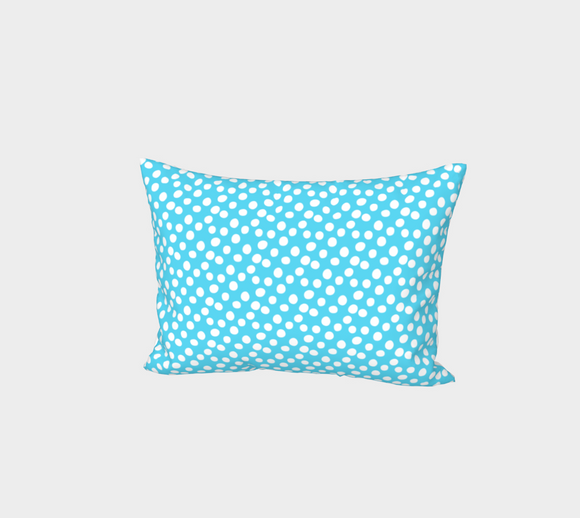 All About the Dots Bed Pillow Sham - Blue