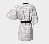 Wine is Always a Good Idea Patterned Kimono Robe