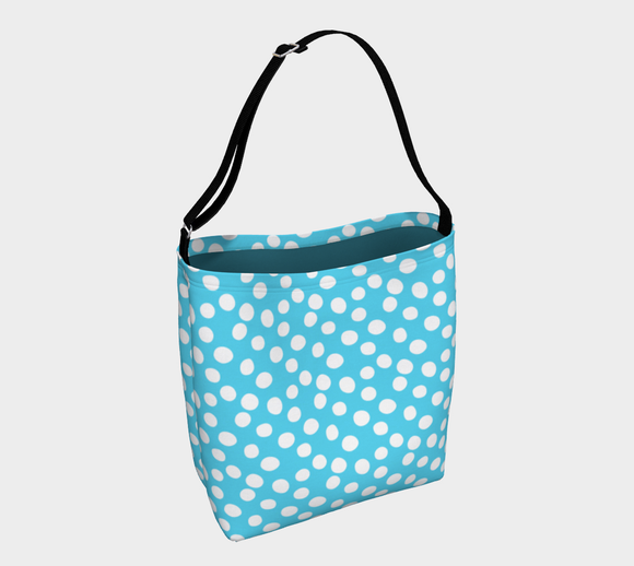 All About the Dots Tote Bag - Blue