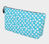 All About the Dots Makeup Bag - Blue