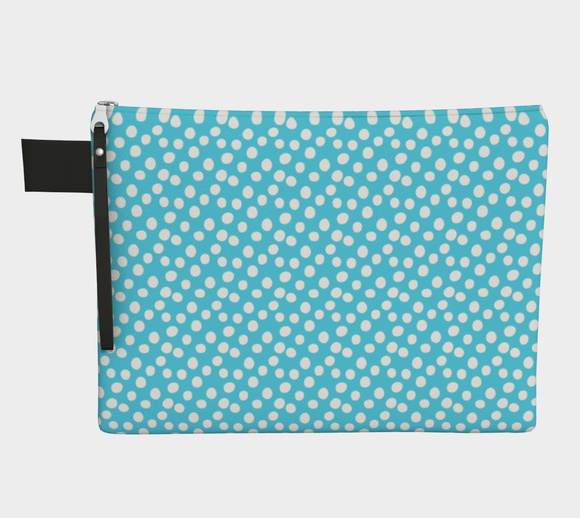 All About the Dots Pouch - Blue