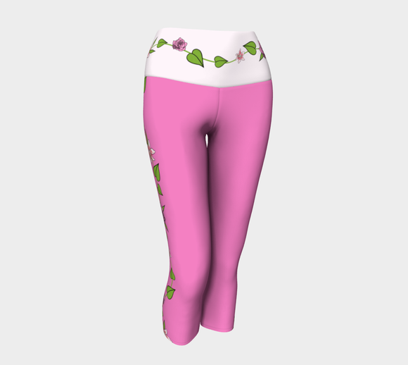 Bouquet of Flowers Yoga Capris