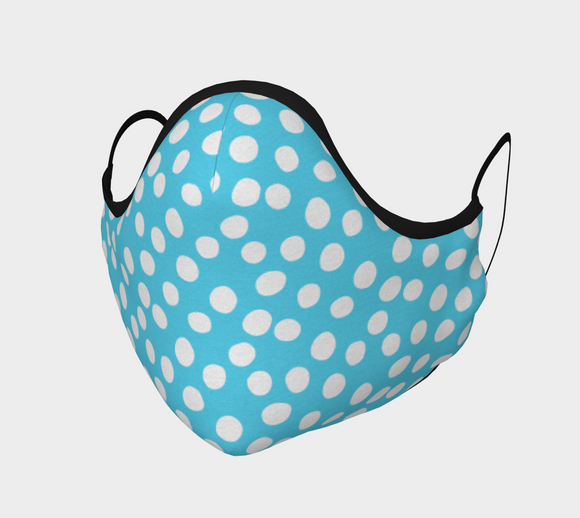 All About the Dots Face Covering - Blue