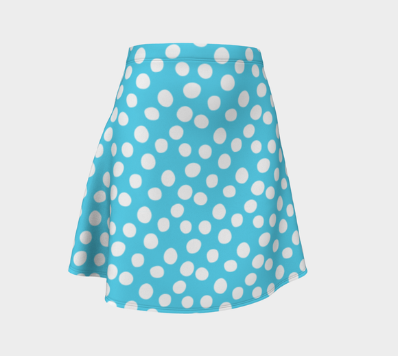 All About the Dots Flare Skirt - Blue