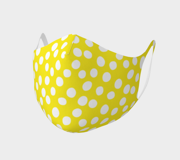All About the Dots Double Knit Face Covering - Yellow