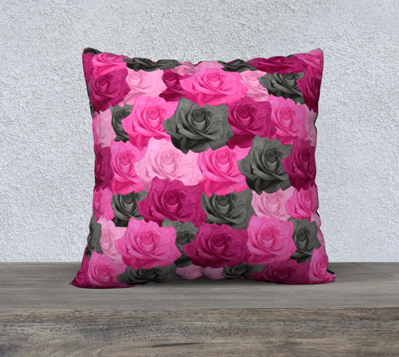 Pink Roses Pillow Case - 22