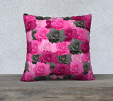 "Pink Roses Pillow Case - 22"" x 22"""