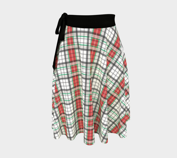 Classic Plaid Wrap Skirt