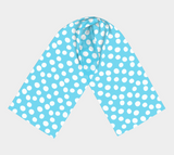All About the Dots Long Scarf - Blue