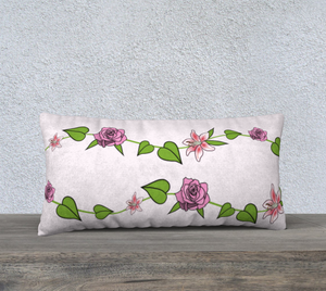 "Bouquet of Flowers Pillow Case - 24""x12"""
