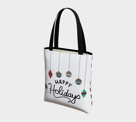 Happy Holidays Basic Tote