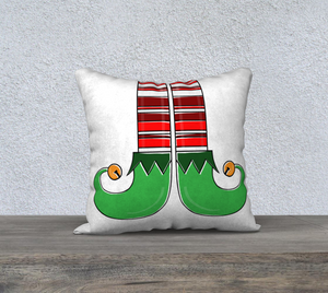 "Elf Feet Pillow Case - 18""x18"""