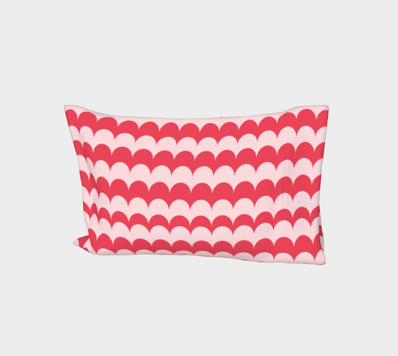 Pink Scallop Print Bed Pillow Sleeve