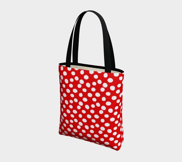 All About the Dots Basic Tote - Red