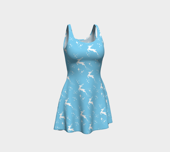 Let it snow, Deer Flare Dress