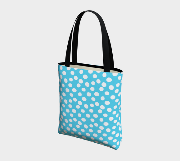 All About the Dots Basic Tote - Blue