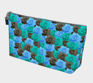 Blue Roses Makeup Bag