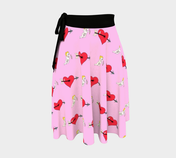 Struck by Cupid's Arrow Wrap Skirt