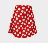 All About the Dots Flare Skirt - Red