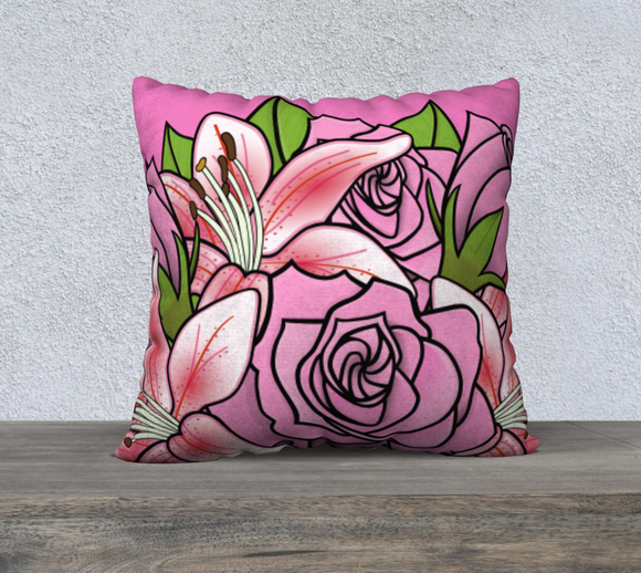 Bouquet of Flowers Pillow Case 22