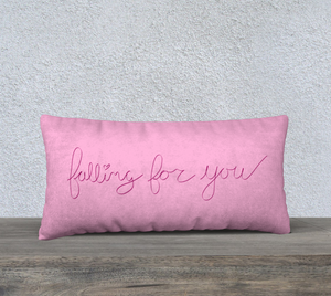 "Falling For You Pillow Case - 24""x12"""