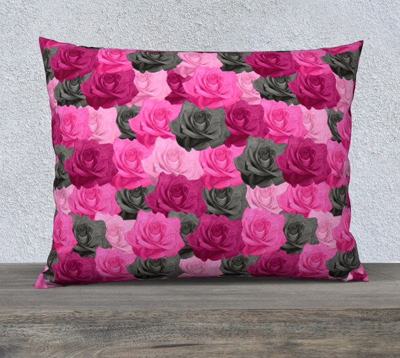 Pink Roses Pillow Case - 26