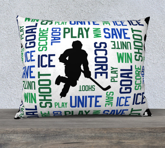For the Love of Hockey Pillow Case - 26