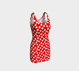 All About the Dots Bodycon Dress - Red