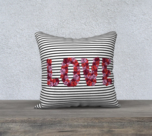 "Blooming Love Pillow Case - 18""x18"""