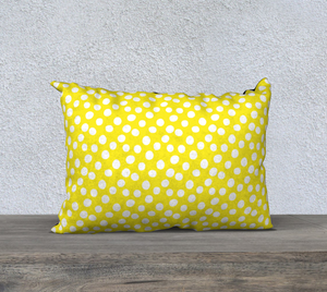 "All About the Dots Pillow Case - 20""x14"" Yellow"