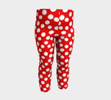 All About the Dots Baby Leggings - Red