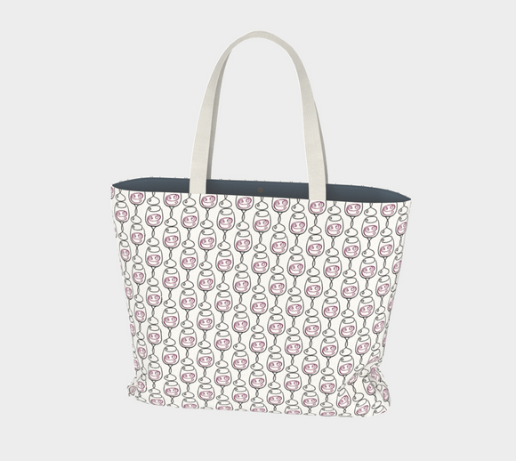 Wine is Always a Good Idea Patterned Market Tote
