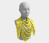 All About the Dots Square Scarf - Yellow