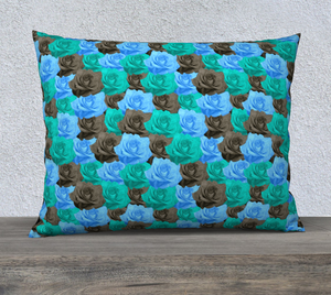 "Blue Roses Pillow Case - 26""x20"""