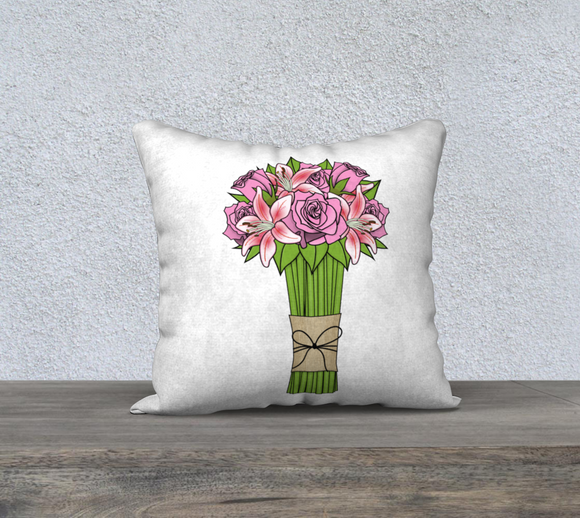 Bouquet of Flowers Pillow Case - 18