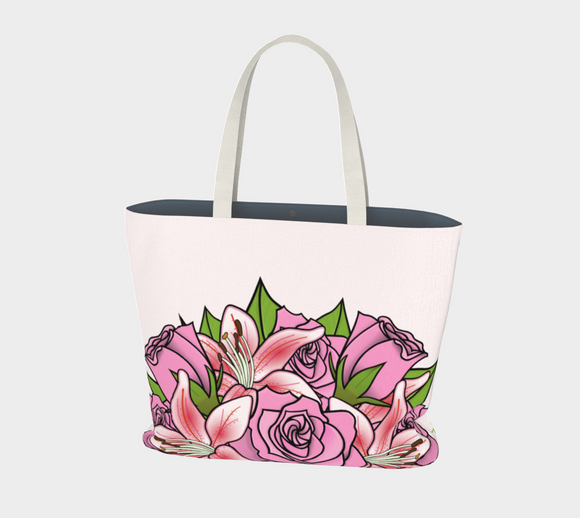 Bouquet of Flowers Market Tote