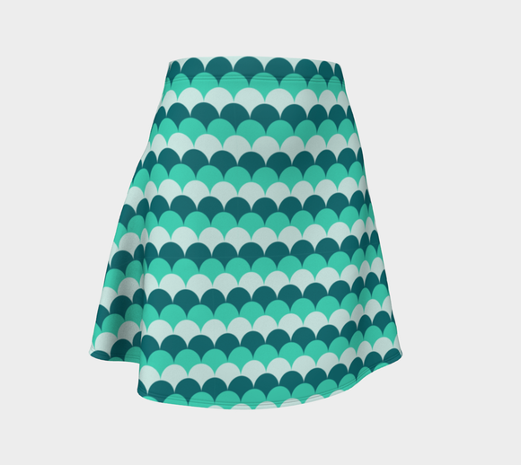 Mermaid Scales Flare Skirt