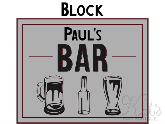 The Bar Print - Customizable