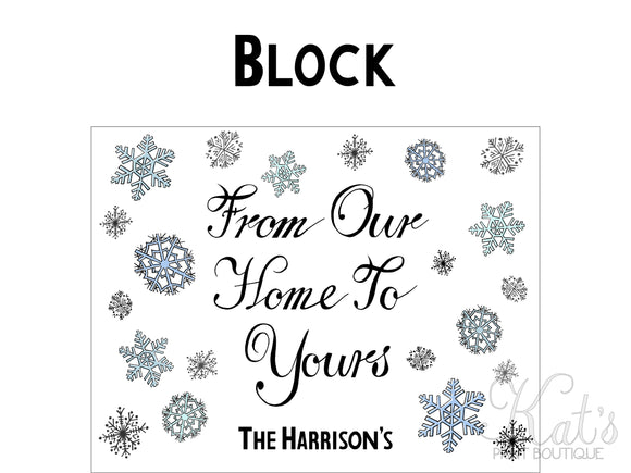 From Our Home to Yours Greeting Card - Customizable