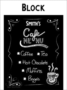 Cafe Menu Print - Customizable