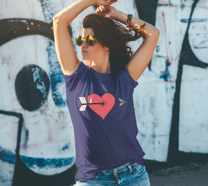 Struck by Cupid's Arrow Unisex Tee