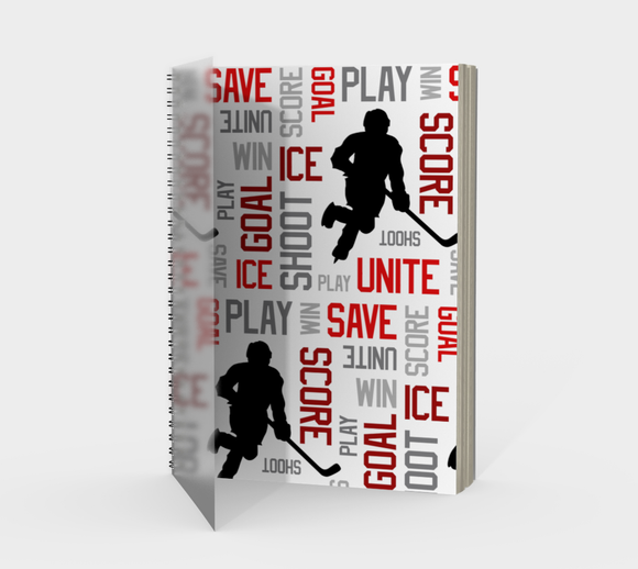 For the Love of Hockey Spiral Notebook - Red