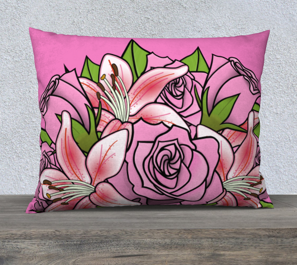 Bouquet of Flowers Pillow Case 26