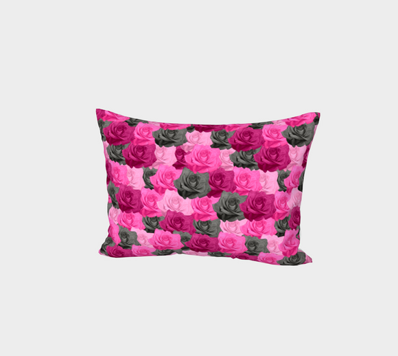 Pink Roses Bed Pillow Sham
