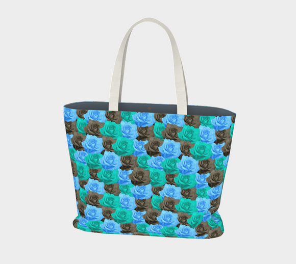 Blue Roses Market Tote