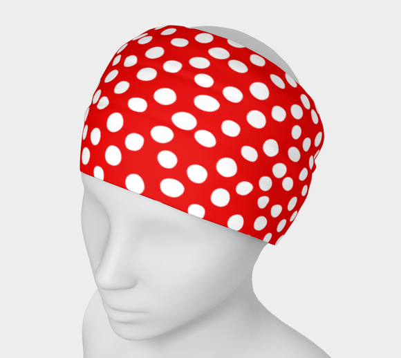 All About the Dots Headband - Red