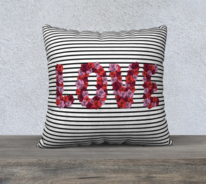 "Blooming Love Pillow Case - 22""x22"""
